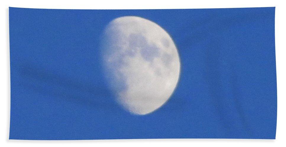 Lunar Bath Sheet featuring the painting Blue Moon by Robert Nacke