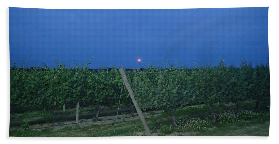 Grape Hand Towel featuring the photograph Blue Moon by Robert Nickologianis