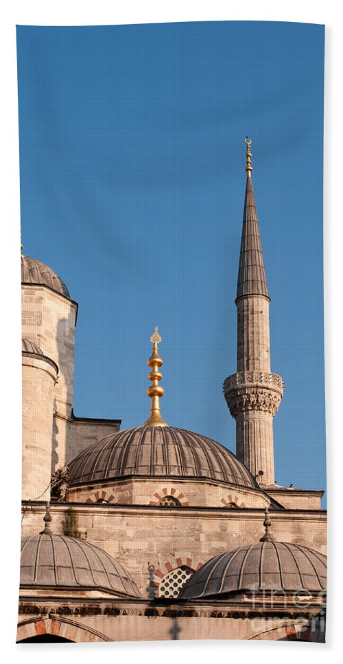 Istanbul Bath Sheet featuring the photograph Blue Mosque 02 by Rick Piper Photography