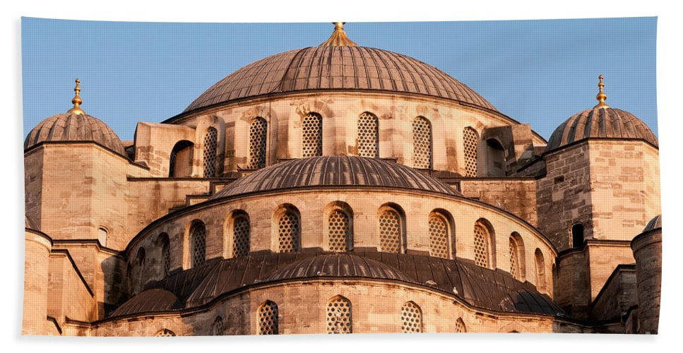 Istanbul Bath Sheet featuring the photograph Blue Mosque Domes 03 by Rick Piper Photography