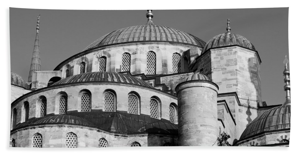 Istanbul Bath Sheet featuring the photograph Blue Mosque Domes 06 by Rick Piper Photography