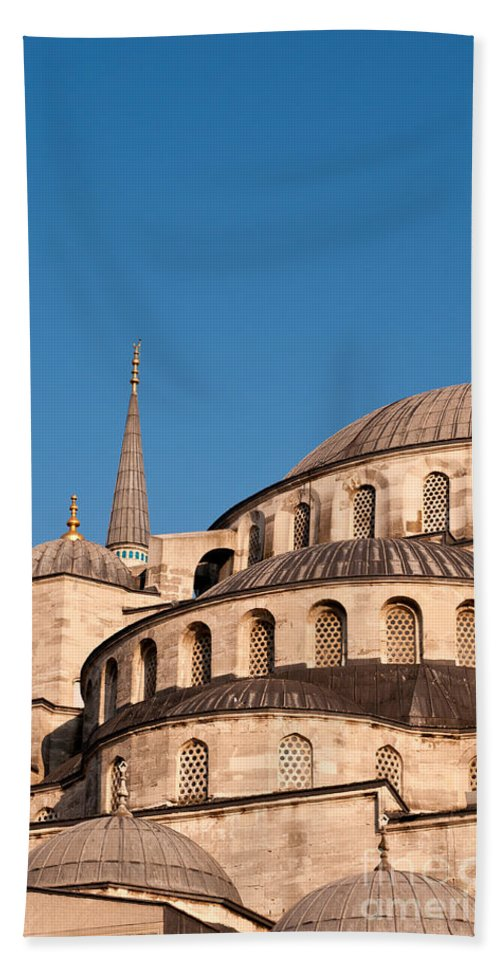 Istanbul Bath Sheet featuring the photograph Blue Mosque Domes 07 by Rick Piper Photography