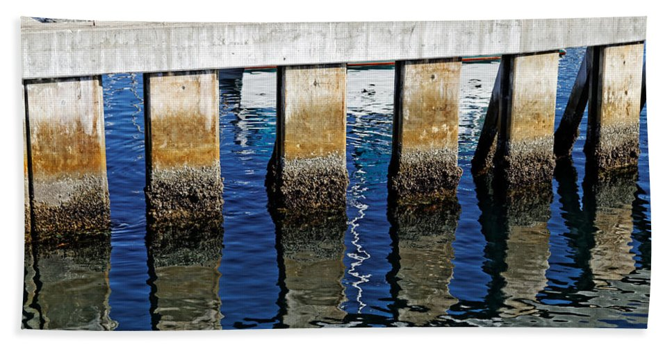 Reflections Bath Sheet featuring the photograph Blue Reflections by Scott Hill