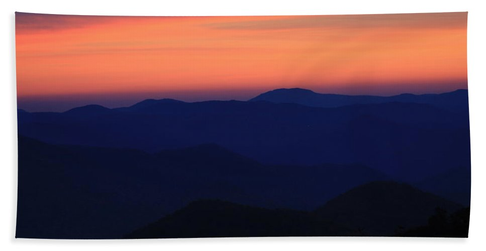Blue Ridge Hand Towel featuring the photograph Blue Ridge At Dusk by Mountains to the Sea Photo