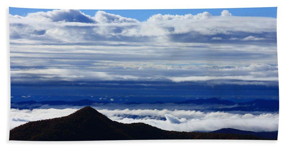 Blue Ridge Hand Towel featuring the photograph Blue Ridge Fog-north Carolina by Mountains to the Sea Photo