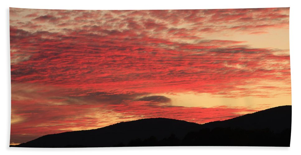American Landscape Hand Towel featuring the photograph Blue Ridge Mountain Sunset-alabama by Mountains to the Sea Photo
