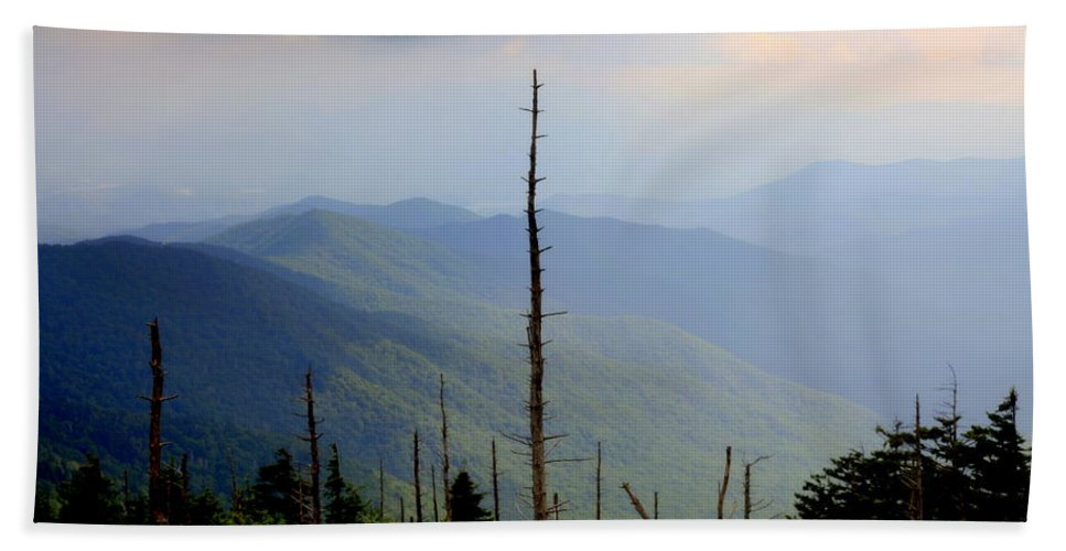 Blue Ridge Mountains Hand Towel featuring the photograph Blue Ridge Mountains by Karen Wiles