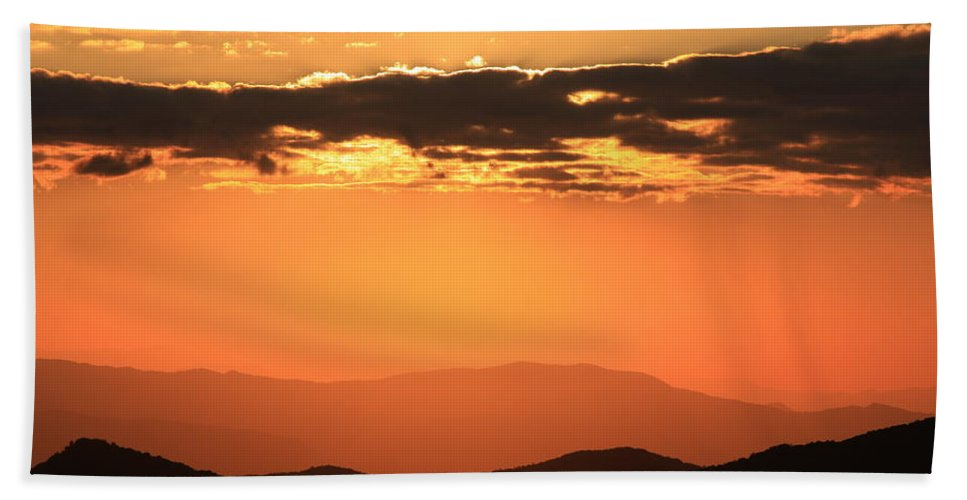 Mountains Bath Sheet featuring the photograph Blue Ridge Parkway Sunset-north Carolina by Mountains to the Sea Photo