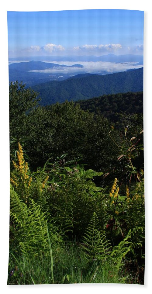 Michael Weeks Hand Towel featuring the photograph Blue Ridge Vista by Mountains to the Sea Photo