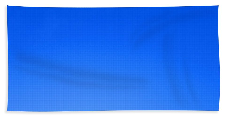Blue Bath Sheet featuring the photograph Blue Sky by Ingrid Van Amsterdam