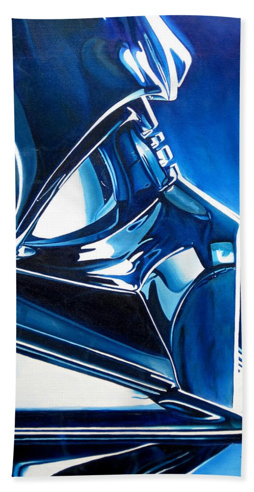Star Wars Hand Towel featuring the painting Blue Vader by Joshua Morton