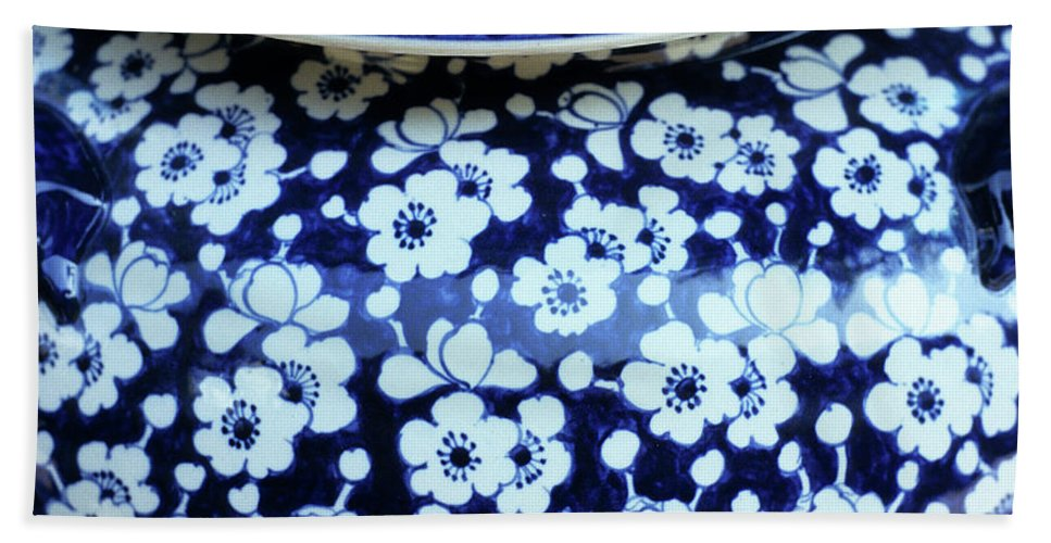 Vietnam Bath Sheet featuring the photograph Blue Vase by Rick Piper Photography
