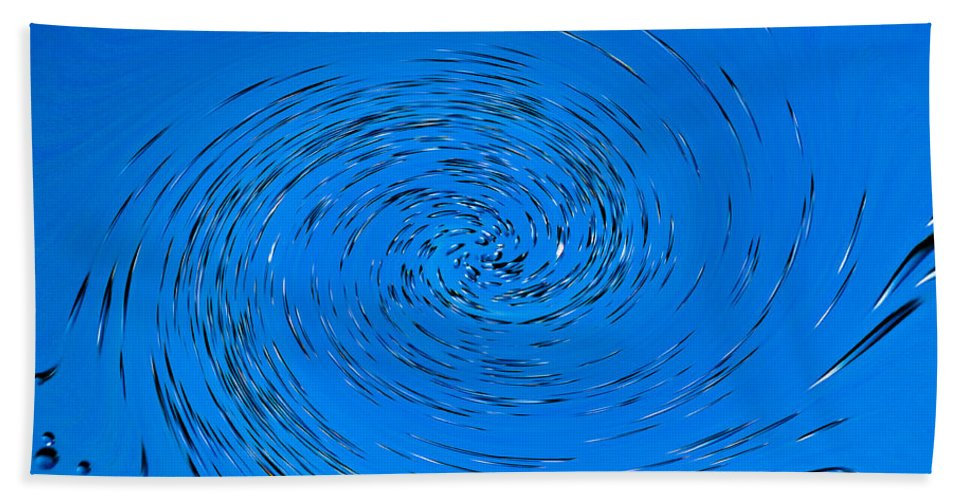 Water Hand Towel featuring the photograph Blue Vortex by David Pyatt
