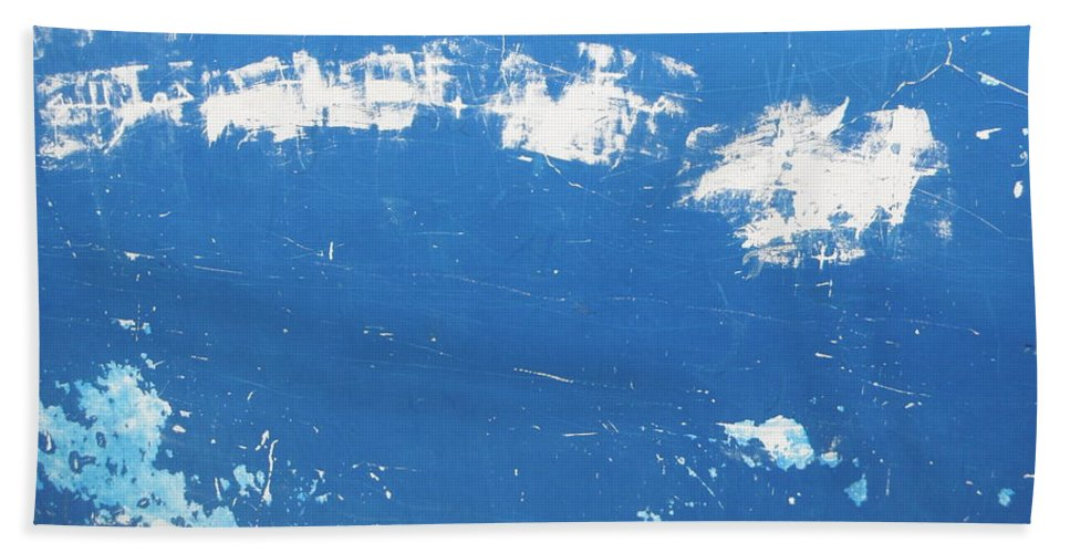 Blue Bath Sheet featuring the photograph Blue Wall by Candee Lucas