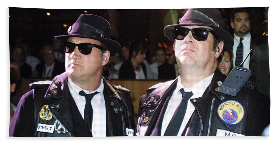Blues Brothers Bath Sheet featuring the photograph Blues Brothers by Concert Photos
