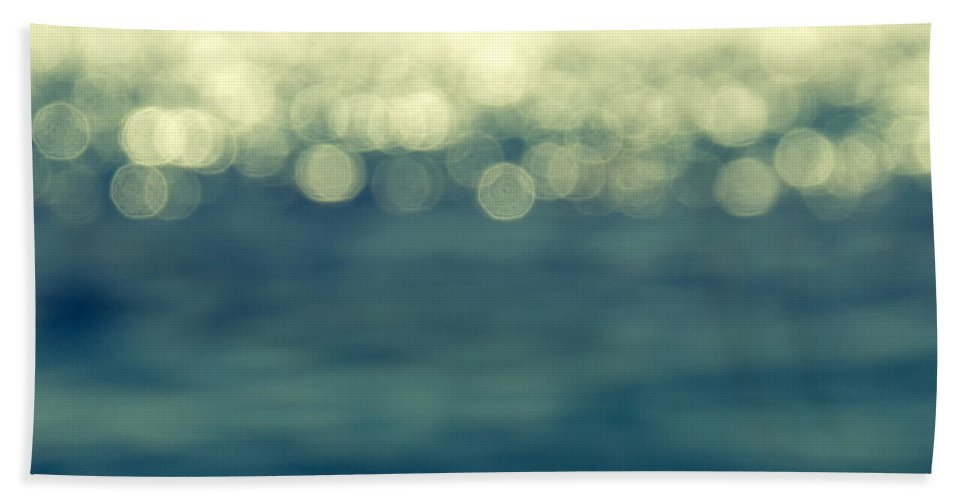 Abstract Hand Towel featuring the photograph Blurred Light by Stelios Kleanthous