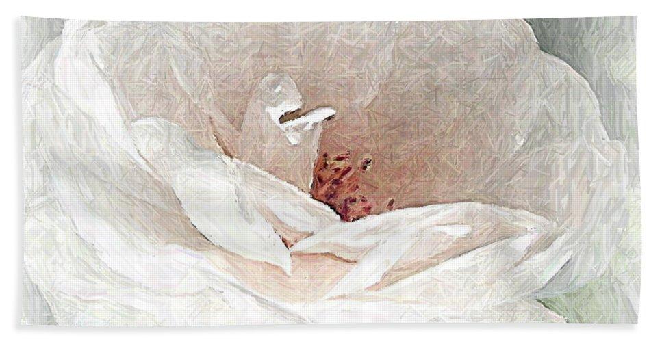 Floral Hand Towel featuring the photograph Blush by Maureen J Haldeman