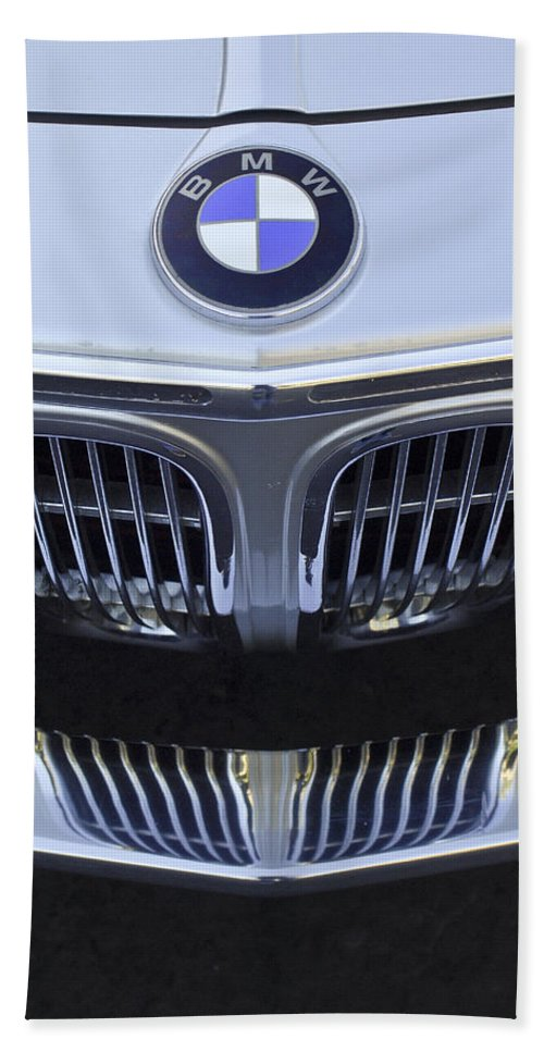 Bmw Bath Sheet featuring the photograph Bmw Grille by Jill Reger