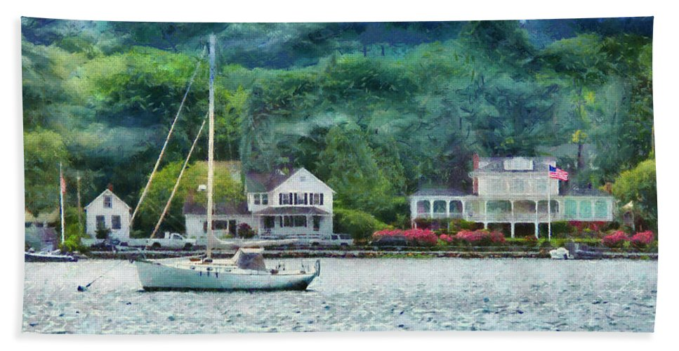 Ship Bath Sheet featuring the photograph Boat - A Good Day To Sail by Mike Savad