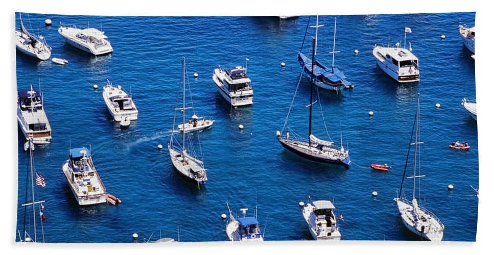 Sailboats Hand Towel featuring the photograph Boat Parking by Kelley King