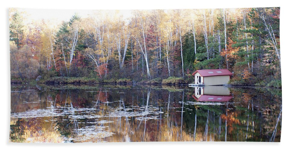 Water Bath Sheet featuring the photograph Boat Shed by Debby Richards