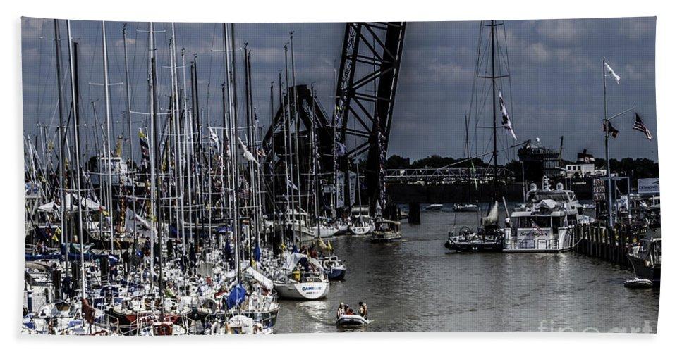 Sailboats Bath Sheet featuring the photograph Boat Week 3 by Ronald Grogan