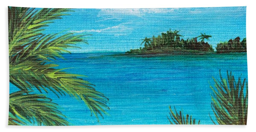 Interior Bath Sheet featuring the painting Boca Chica Beach by Anastasiya Malakhova