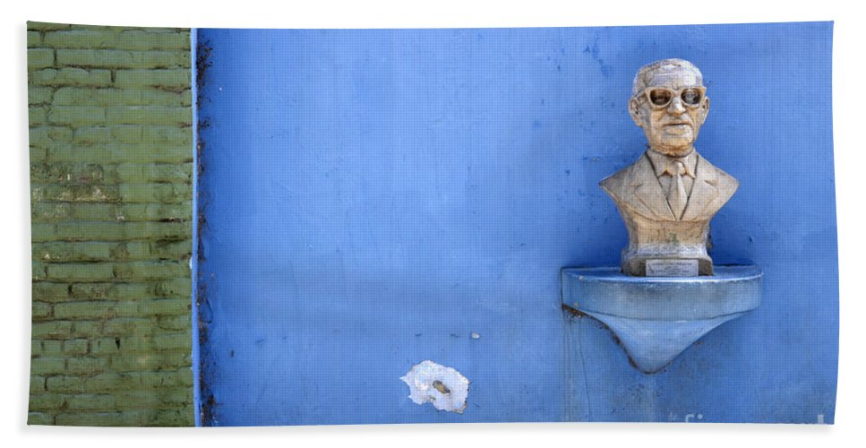 Blue Bath Sheet featuring the photograph Boca District Buenos Aires 1 by Bob Christopher