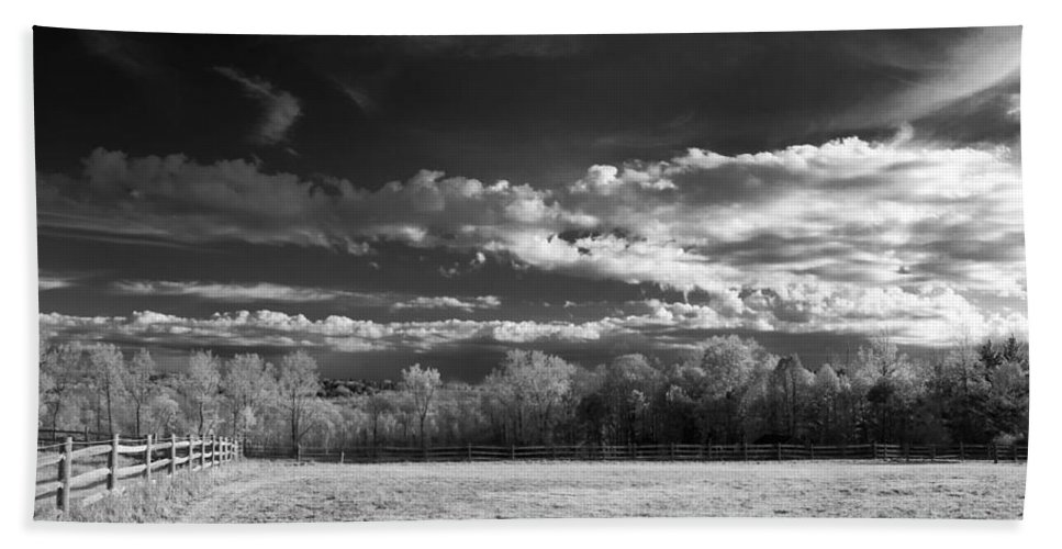 Clouds Hand Towel featuring the photograph Bode's Domain by Guy Whiteley