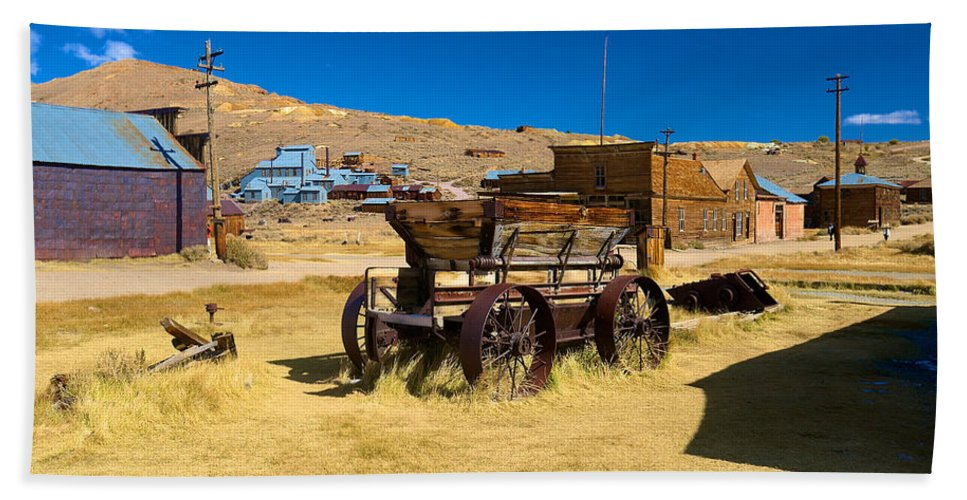 Bodie State Historical Park Hand Towel featuring the photograph Bodie 10 by Richard J Cassato