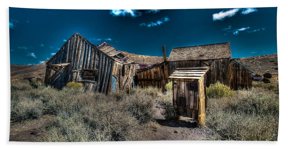 Bodie State Historical Park Hand Towel featuring the photograph Bodie 6 by Richard J Cassato