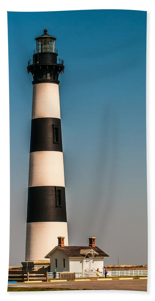 Banks Hand Towel featuring the photograph Bodie Island Lighthouse Obx Cape Hatteras North Carolina by Alex Grichenko