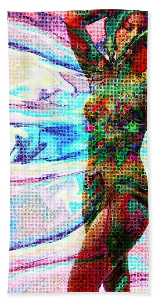 Body And Spirit Hand Towel featuring the digital art Body And Spirit by Kiki Art