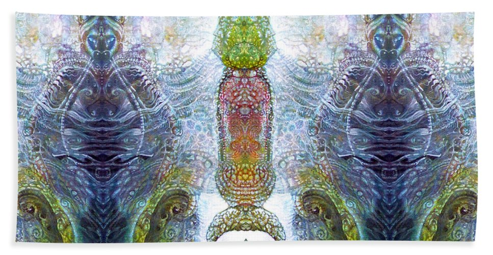 \bogomil Variations\ \otto Rapp\ \ Michael F Wolik\ Bath Towel featuring the digital art Bogomil Variation 13 by Otto Rapp