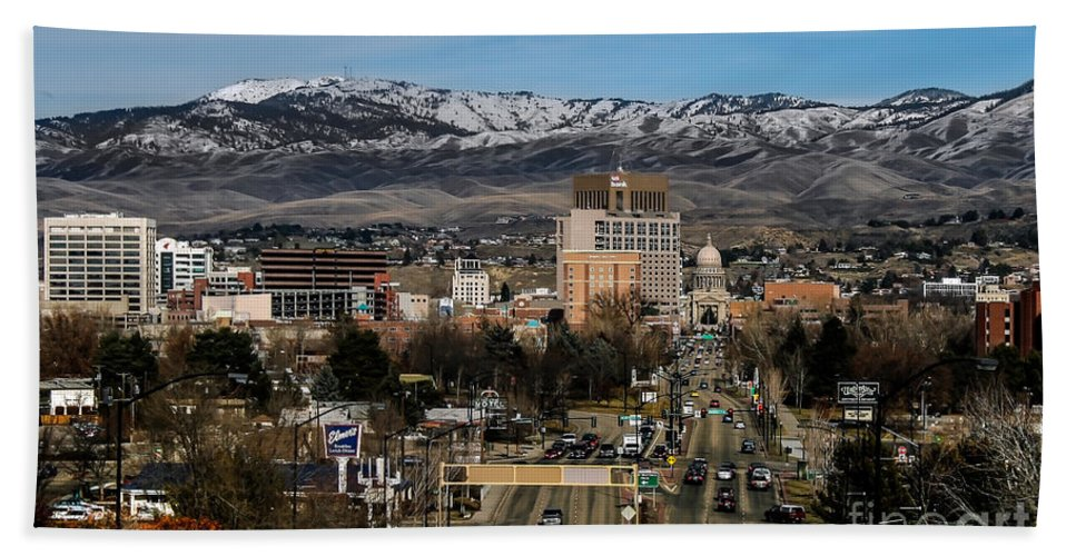 City Hand Towel featuring the photograph Boise Idaho by Robert Bales