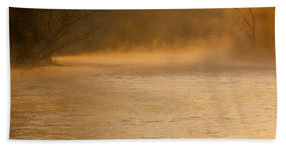 Boise River Hand Towel featuring the photograph Boise River Sunrise by Vishwanath Bhat