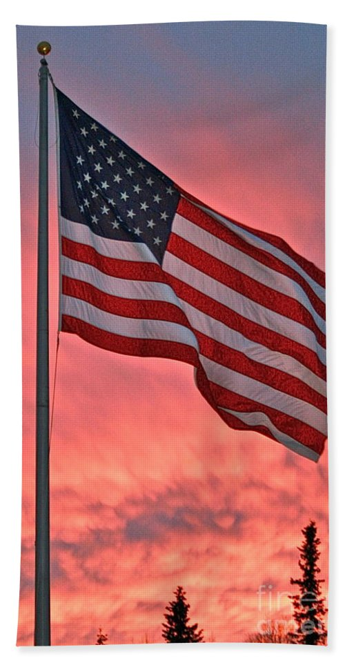 Flag Bath Towel featuring the photograph Bold by Rick Monyahan