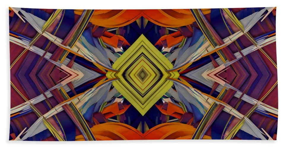 Abstract Hand Towel featuring the digital art Boldness Of Color by Deborah Benoit