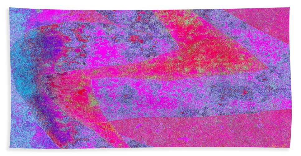 Modern Minimalist Image Bath Sheet featuring the digital art Bolt by Expressionistart studio Priscilla Batzell