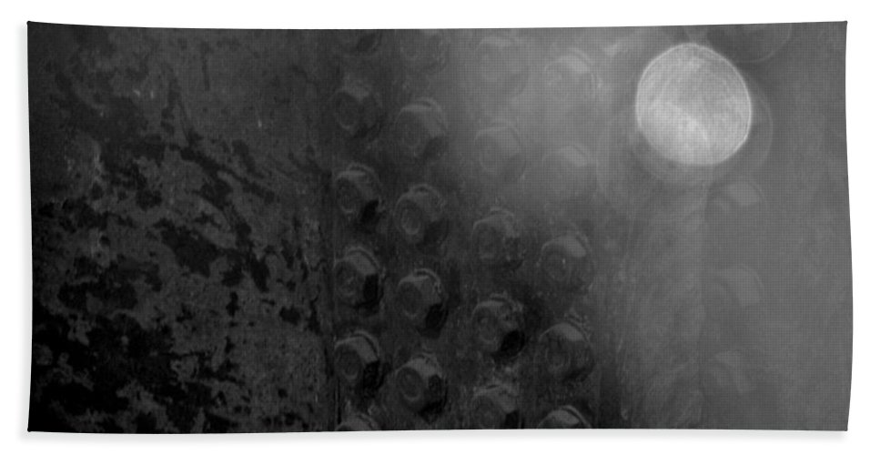 Wtc Hand Towel featuring the photograph Bolts On The Trident In Black And White by Rob Hans