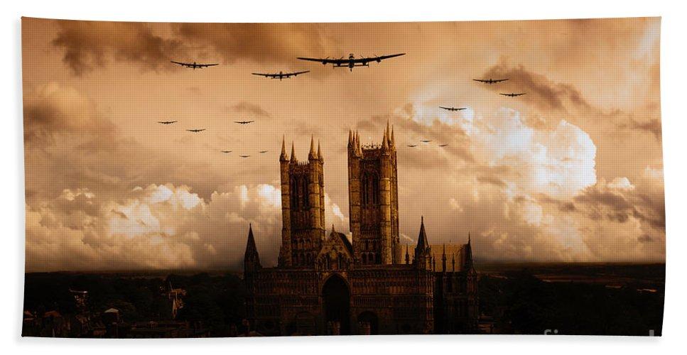 Avro Bath Sheet featuring the digital art Bomber Country by J Biggadike