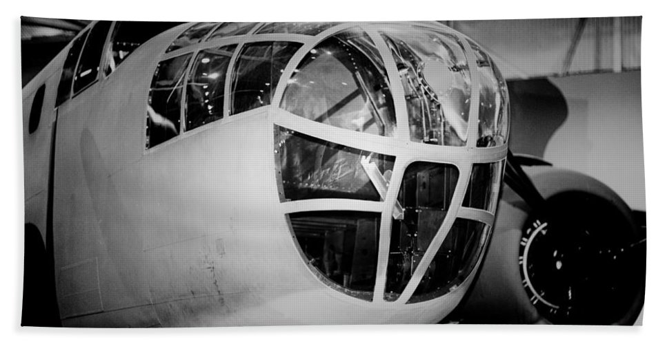 Bomber Aircraft Hand Towel featuring the photograph Bomber by Douglas Barnard