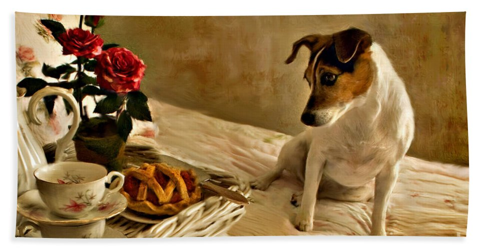 Hand Towel featuring the photograph Bon Appetit by Jean Hildebrant