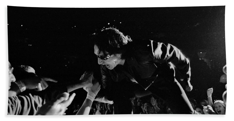 Bono Bath Sheet featuring the photograph Bono 051 by Timothy Bischoff