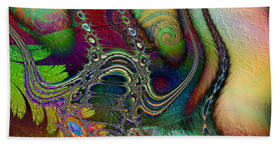 Boogaloo Hand Towel featuring the digital art Boogaloo by Kiki Art