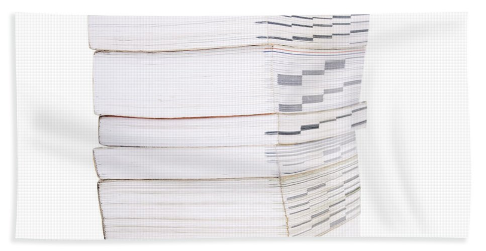 Heap Bath Sheet featuring the photograph Books Isolated by Tim Hester