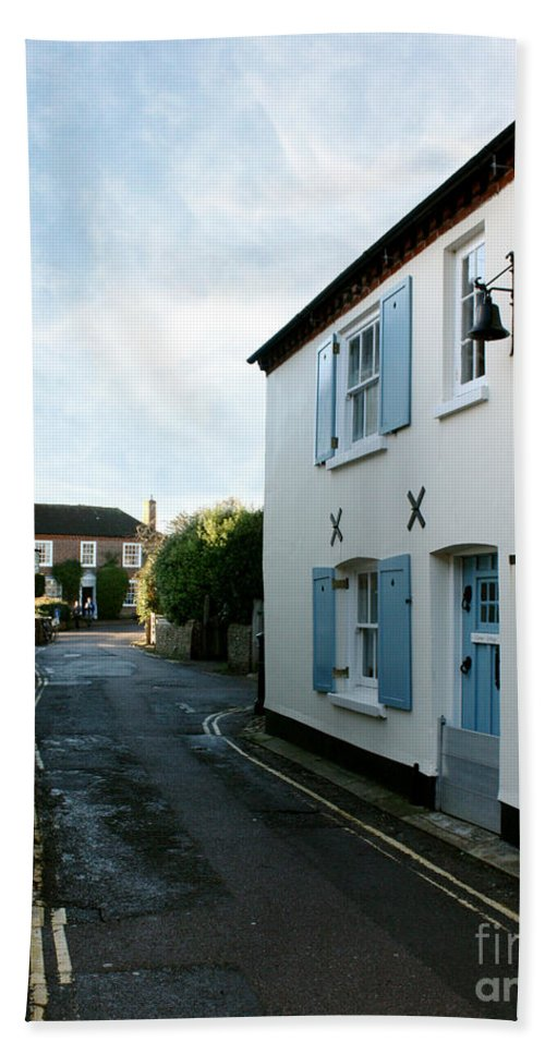 Bosham Hand Towel featuring the photograph Bosham Hight Street West Sussex by Terri Waters