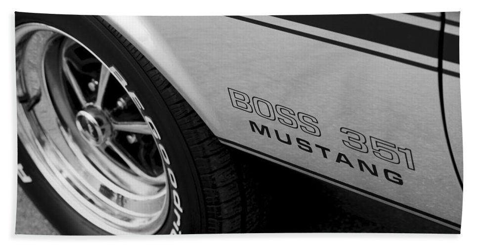1973 Hand Towel featuring the photograph Boss 351 Mustang by Gordon Dean II