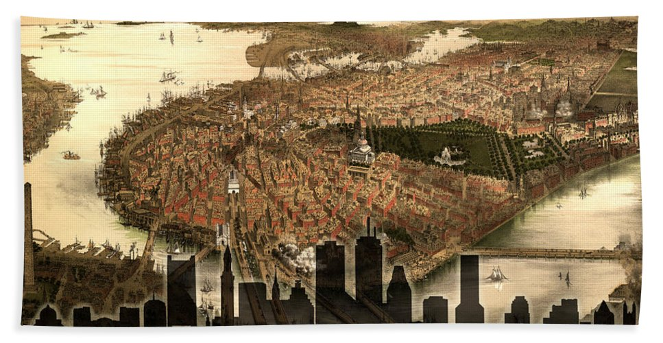 Boston Bath Sheet featuring the photograph Boston Old And New by Andrew Fare