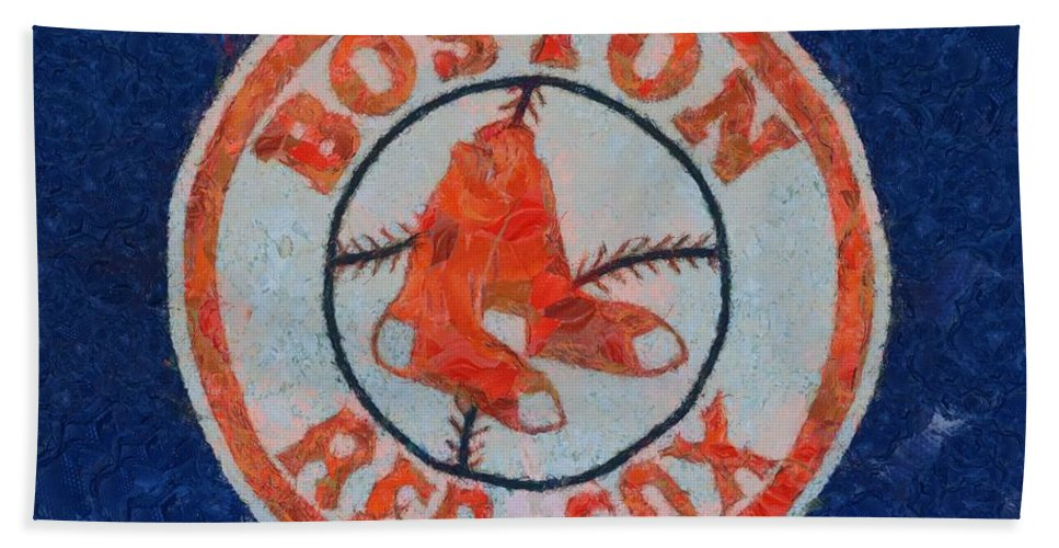 Boston Red Sox Bath Sheet featuring the painting Boston Red Sox by Dan Sproul